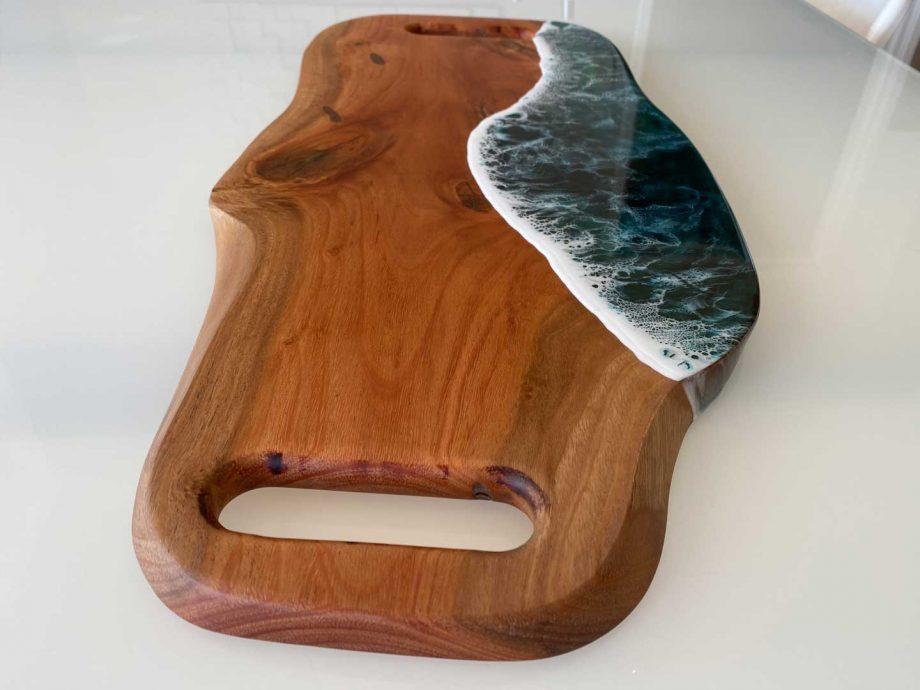 mahogany resin charcuterie board