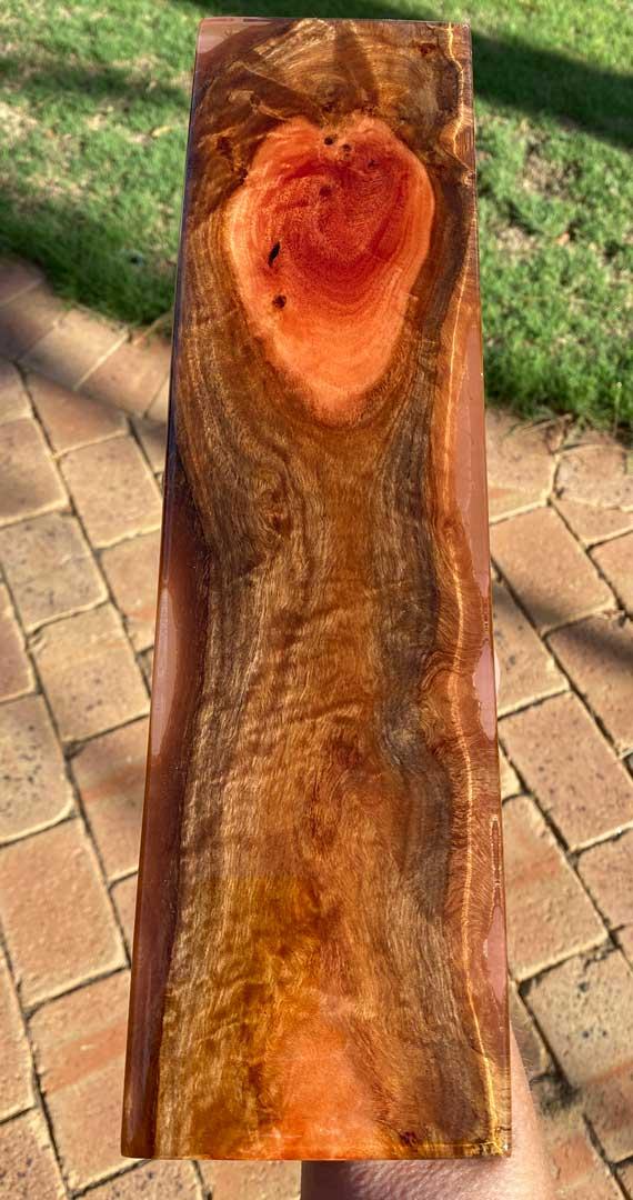 red gum resin cribbage board