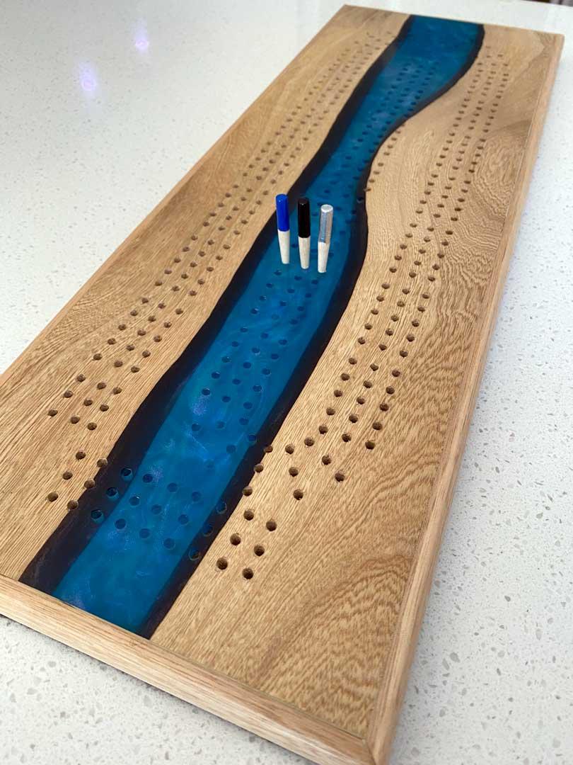 resin cribbage board