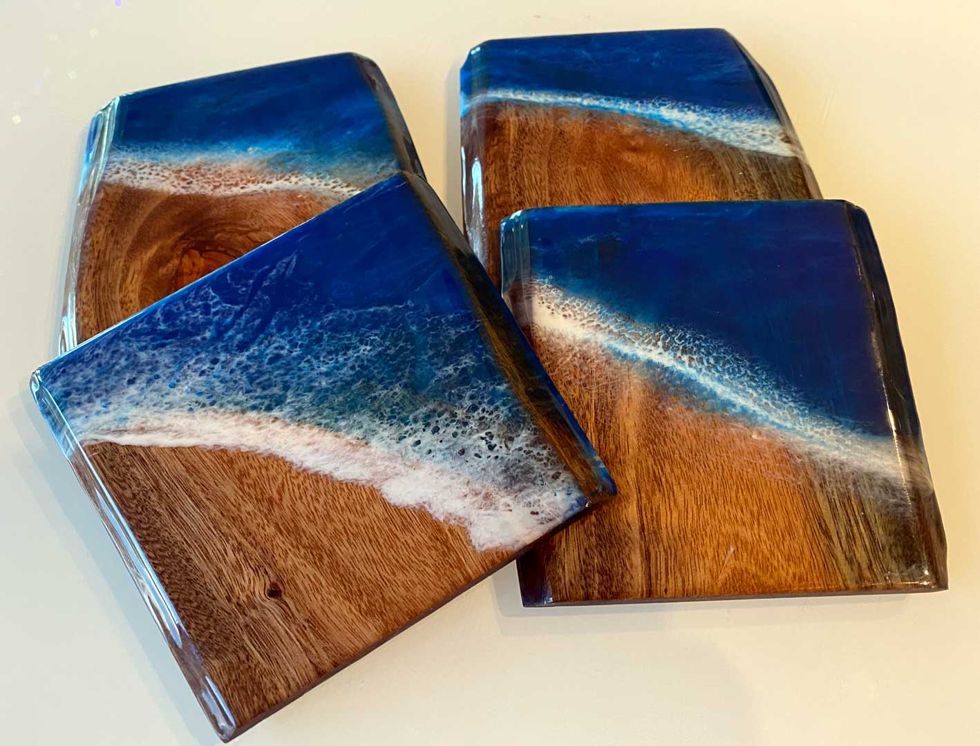 resin wave coasters