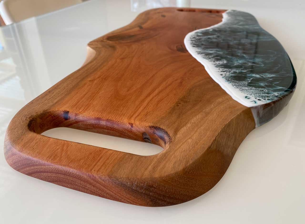 mahogany charcuterie board